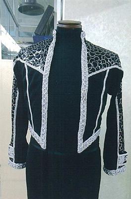 パソ用ボレロセミオーダー 黒字シルバー 白樺ドレス